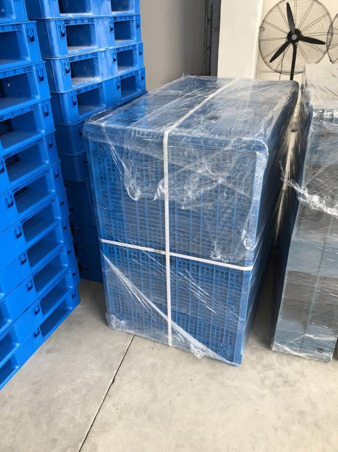 single face 9 feet 18 feet light weight plastic pallet for flat logistic transfer