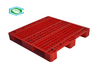Single Face Rackable Plastic Pallets , Warehouse Plastic Pallet 3/6 Runners For Flat Ground