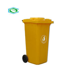 China Rectangular 50 Gallon Rolling Trash Can 100% Virgin HDPE Material Easy Cleaning supplier