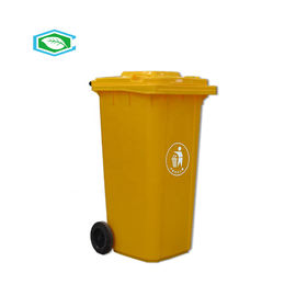 Rectangular 50 Gallon Rolling Trash Can 100% Virgin HDPE Material Easy Cleaning
