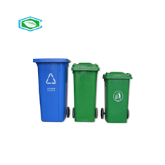 China Space Saving Outdoor Garbage Bins With Attached Lids Professional Grade supplier