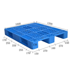 1210 Virgin HDPE Plastic Shipping Pallets Recyled And Rackable Of Single Faced