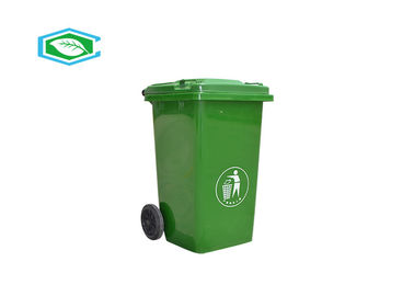 100 Liter Rectangular Wheeled Mobile Plastic Garbage Can With Attached Lid
