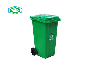 Heavy Duty Standard Size Wheeled Plastic Trash Containers 240 Liter With Lid