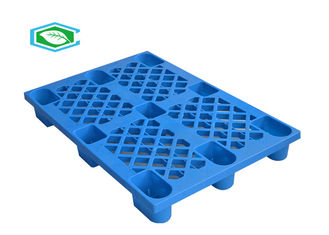 Recycled Stackable Plastic Pallets Nine Feet Colored 4 Way Block With Mesh Form
