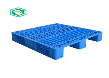 3 Runners Rackable Plastic Pallets Heavy Duty Single Faced Reinforced Flat Top