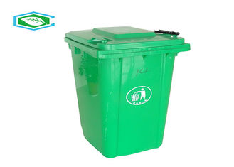 Anti - Slip Eco Friendly Standing 50 Gallon Trash Can / Sanitation Garbage Bin
