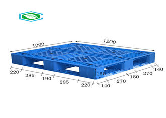 Flat Top Rackable Steel Reinforced Plastic Pallets High Density HDPE Material