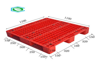 China Racking Design Euro Plastic Export Pallets Single Faced Reinforced Rectangle Grid supplier