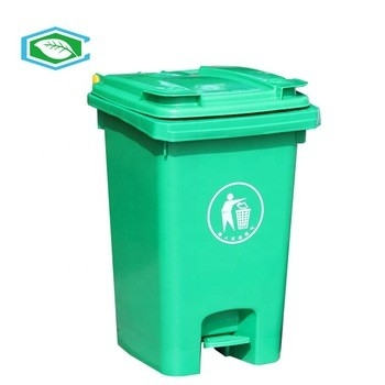Rectangular 20 Gallon Trash Can Plastic Garbage Can With Lid And Pedal