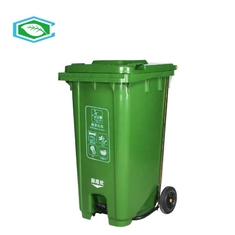 Heavy Duty Pedal Type Wheeled Plastic Garbage Can Outdoor Application Antislip