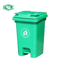 Small Sorting 20 Gallon Trash Can With Universal Recycle Symbol Imprint