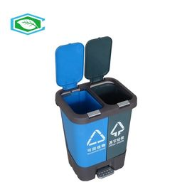 China Water Proof And Leakproof 26 Gallon Plastic Trash Can With Attached Lid And Wheels supplier
