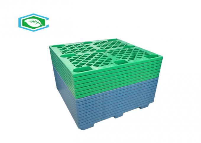 Blue Color Rectangle Euro Lightweight Plastic Pallets With Smooth Surface